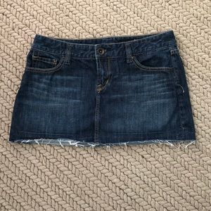 Express Mini Jean Skirt